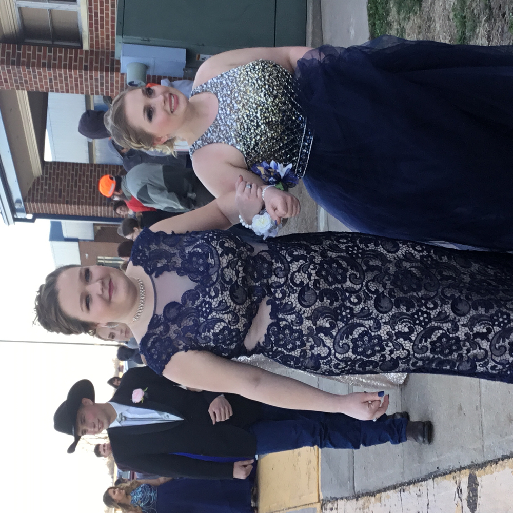 Courtney Bauer escorted by Rianna Ingle