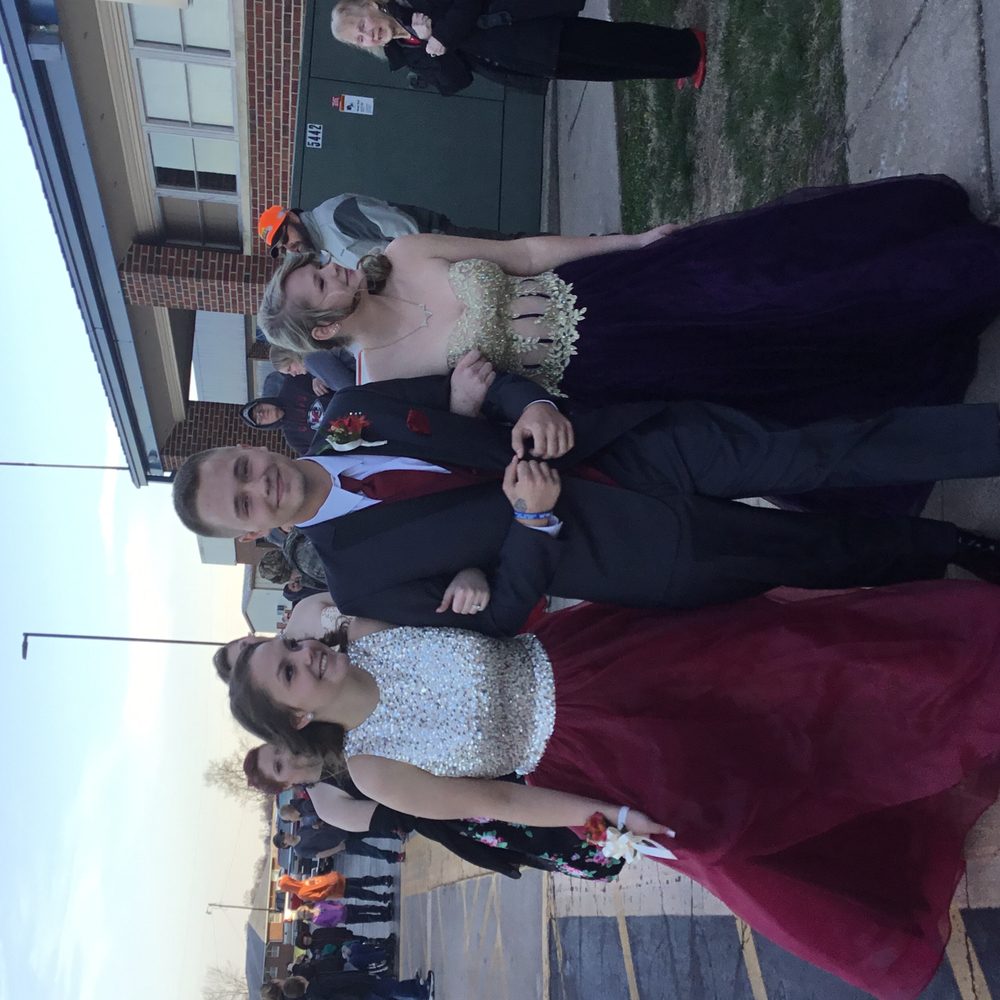 Haleigh Culbertson escorted by Morgan Kobel & Sadie Stoldt
