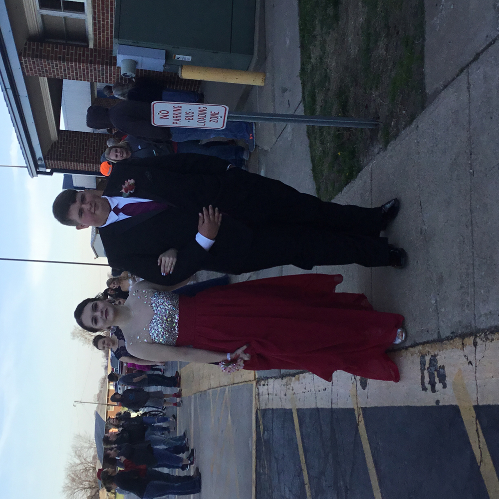 Marley Finley escorted by Hunter Whitlake