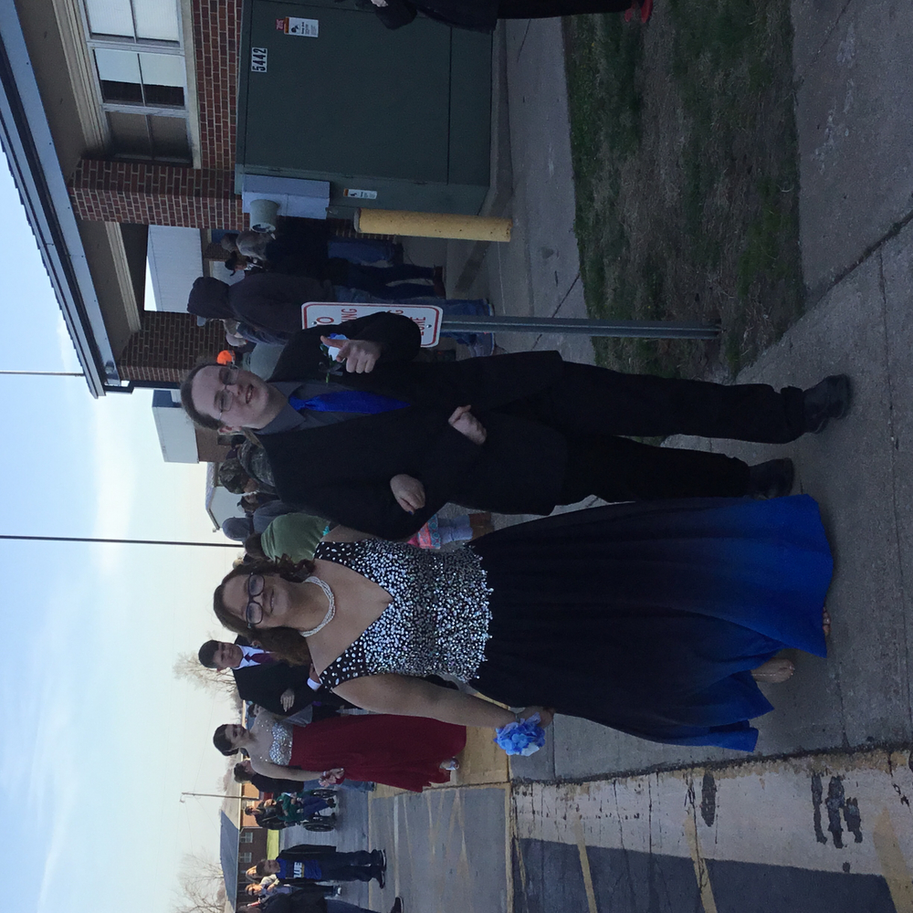 Ashleigh Baker escorted by Seth Cowles