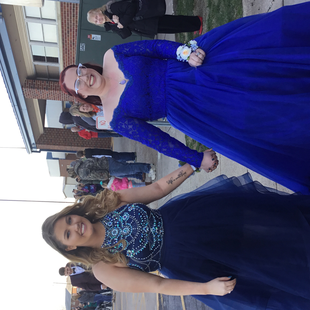 Anna Pierce escorted by Jami Sullivan