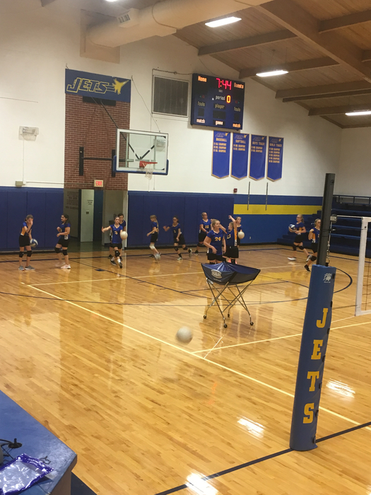 MS VB warmups!