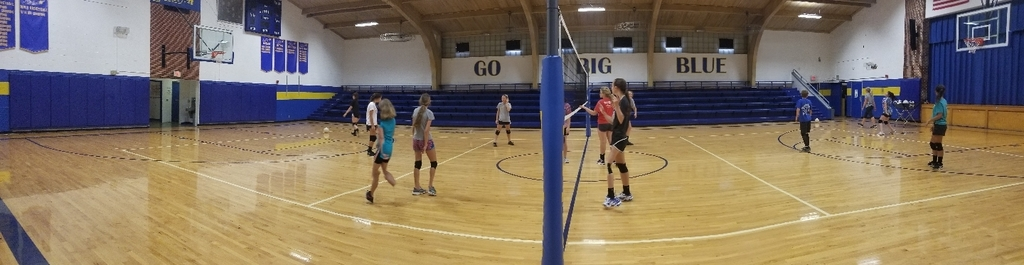 Day 3 of hs/ms volleyball camp