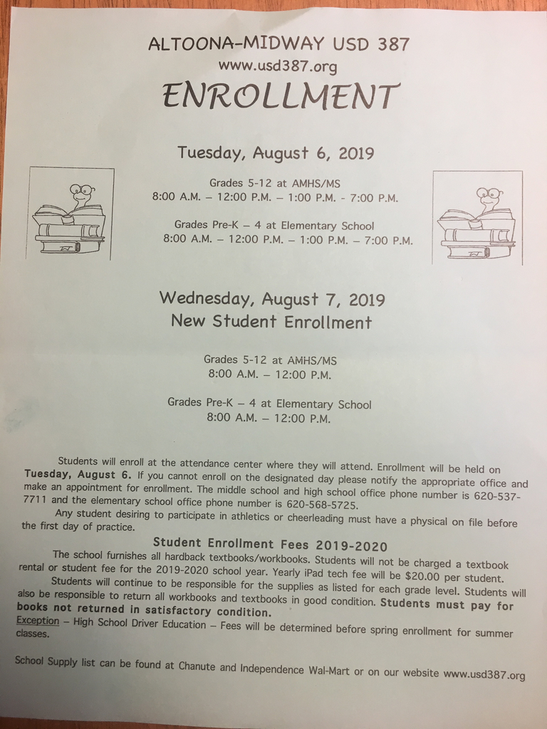Enrollment reminder: