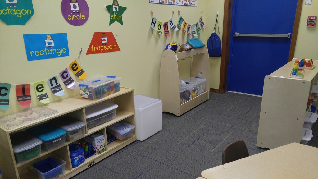 New Preschool cubbies and classroom equipment