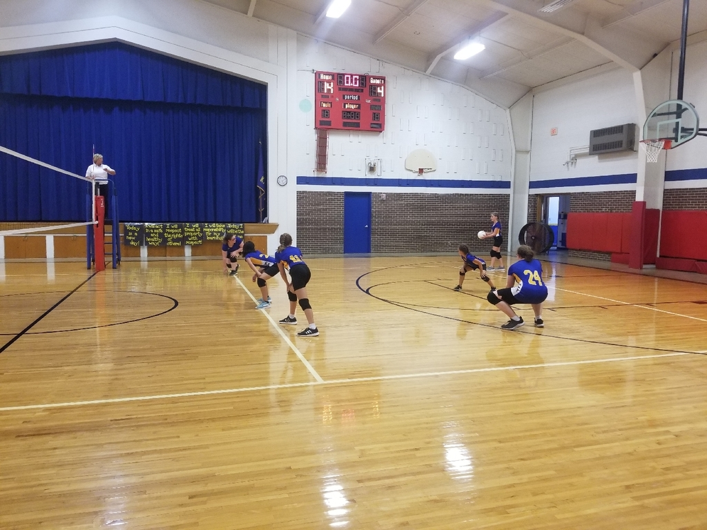 Middle School volleyball is underway