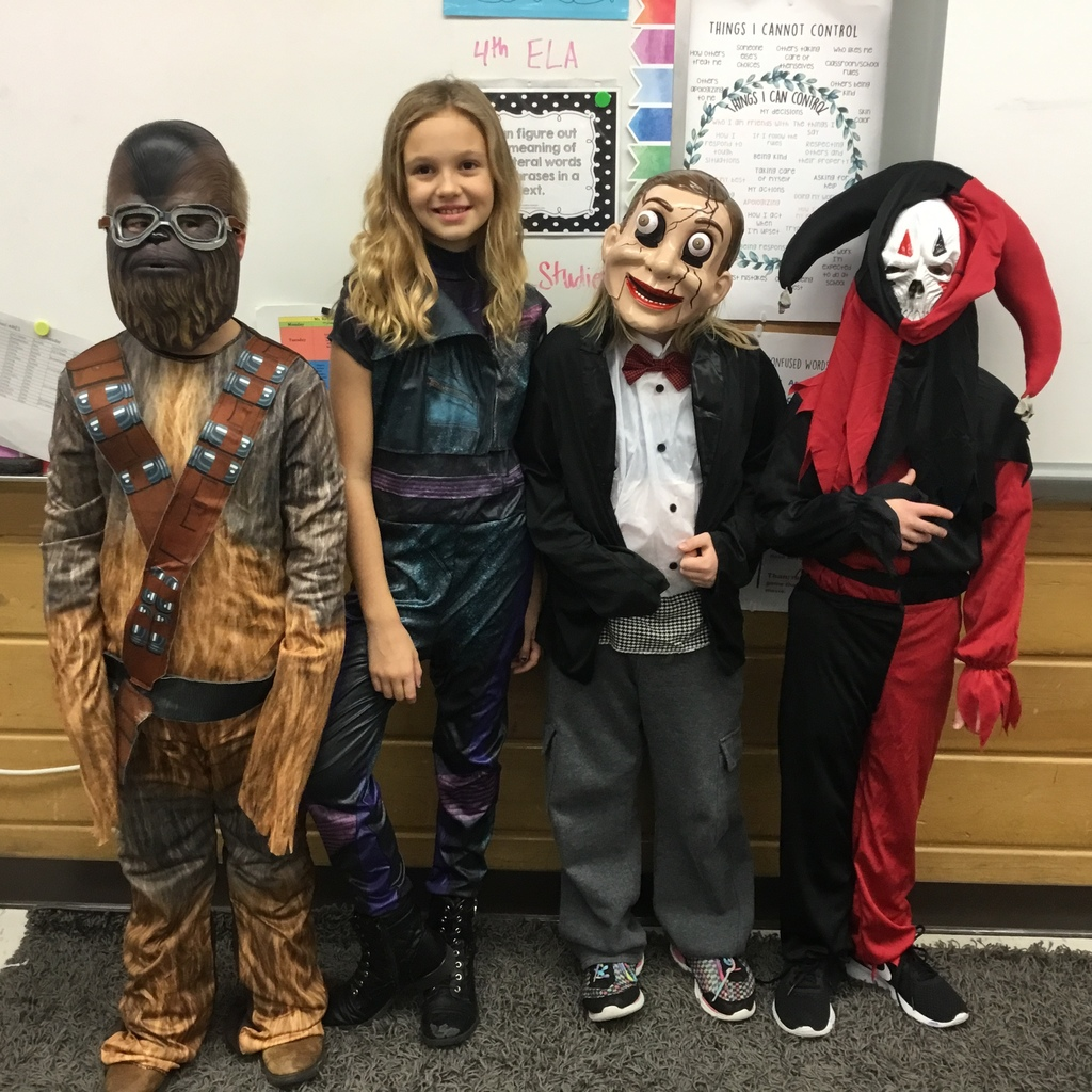 3rd graders dressed for Halloween