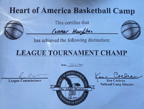 League Champion certificate