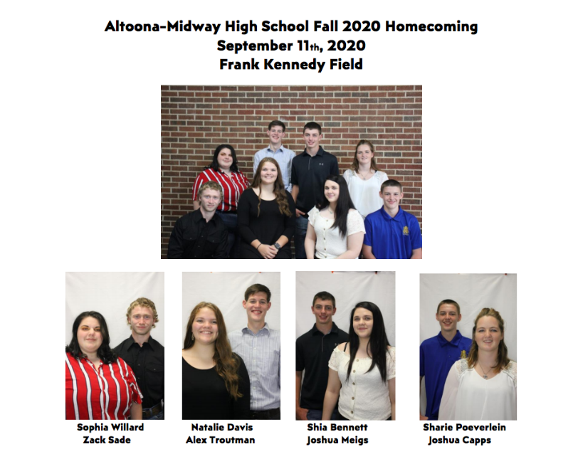 2020 Fall Homecoming Candidates